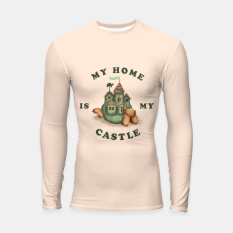 Thumbnail image of My Home Is My Castle Longsleeve rashguard , Live Heroes