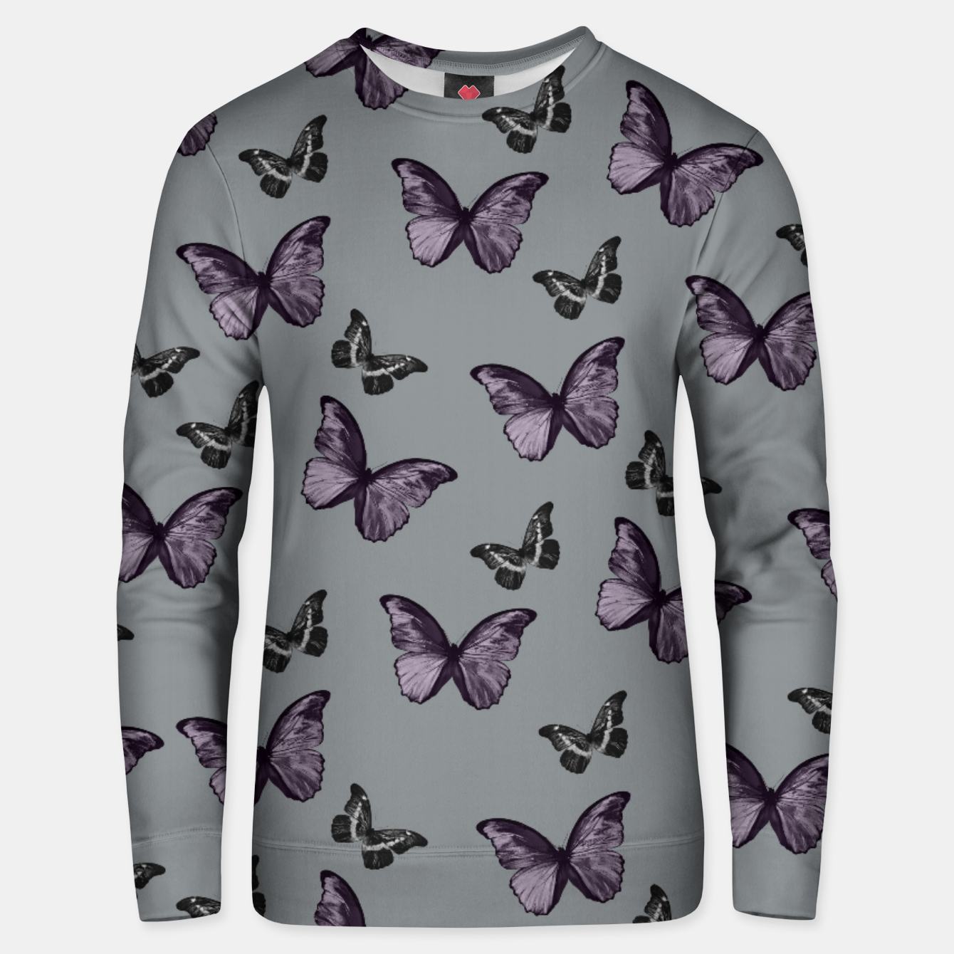 Foto Gray Lavender & Black Butterfly Glam #1 #pattern #decor #art Unisex sweatshirt - Live Heroes