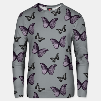 Gray Lavender & Black Butterfly Glam #1 #pattern #decor #art Unisex sweatshirt Bild der Miniatur
