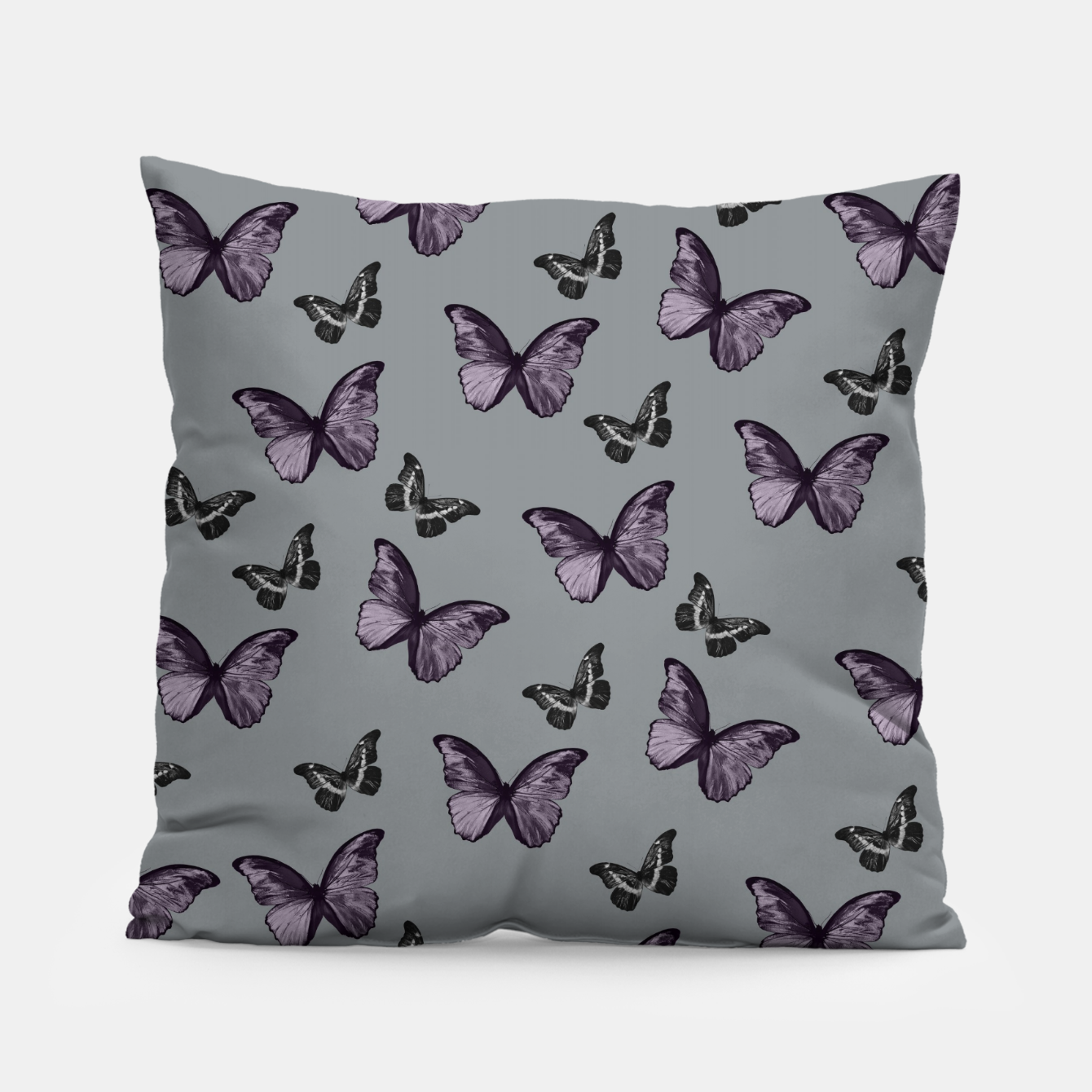 Foto Gray Lavender & Black Butterfly Glam #1 #pattern #decor #art Kissen - Live Heroes