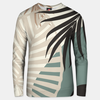 Thumbnail image of Minimal Tropical Palm Leaf Finesse #2 #tropical #decor #art  Unisex sweatshirt, Live Heroes