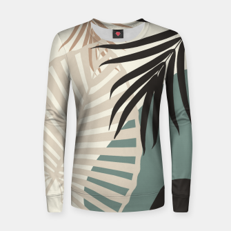 Thumbnail image of Minimal Tropical Palm Leaf Finesse #2 #tropical #decor #art  Frauen sweatshirt, Live Heroes