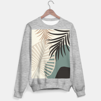 Thumbnail image of Minimal Tropical Palm Leaf Finesse #2 #tropical #decor #art  Sweatshirt regulär, Live Heroes