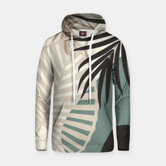Thumbnail image of Minimal Tropical Palm Leaf Finesse #2 #tropical #decor #art  Kapuzenpullover, Live Heroes