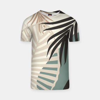 Thumbnail image of Minimal Tropical Palm Leaf Finesse #2 #tropical #decor #art  T-Shirt, Live Heroes