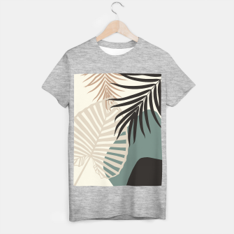 Thumbnail image of Minimal Tropical Palm Leaf Finesse #2 #tropical #decor #art  T-Shirt regulär, Live Heroes
