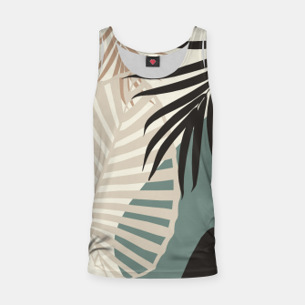 Thumbnail image of Minimal Tropical Palm Leaf Finesse #2 #tropical #decor #art  Muskelshirt , Live Heroes