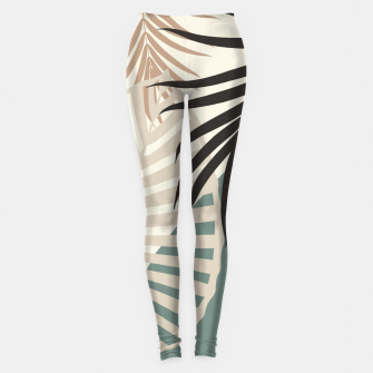 Thumbnail image of Minimal Tropical Palm Leaf Finesse #2 #tropical #decor #art  Leggings, Live Heroes
