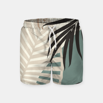 Thumbnail image of Minimal Tropical Palm Leaf Finesse #2 #tropical #decor #art  Badeshorts, Live Heroes