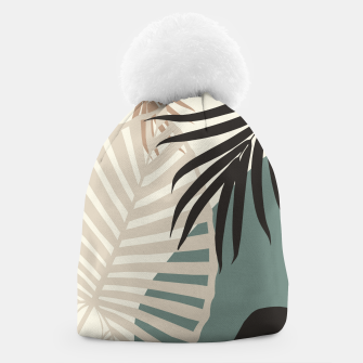 Thumbnail image of Minimal Tropical Palm Leaf Finesse #2 #tropical #decor #art  Mütze, Live Heroes