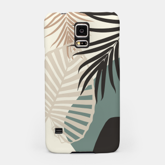 Thumbnail image of Minimal Tropical Palm Leaf Finesse #2 #tropical #decor #art  Handyhülle für Samsung, Live Heroes