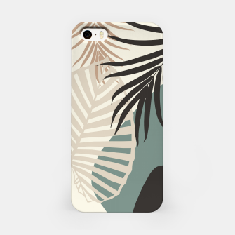 Thumbnail image of Minimal Tropical Palm Leaf Finesse #2 #tropical #decor #art  iPhone-Hülle, Live Heroes