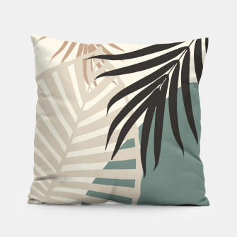 Thumbnail image of Minimal Tropical Palm Leaf Finesse #2 #tropical #decor #art  Kissen, Live Heroes