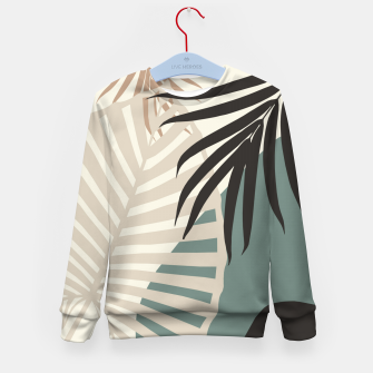 Thumbnail image of Minimal Tropical Palm Leaf Finesse #2 #tropical #decor #art  Kindersweatshirt, Live Heroes