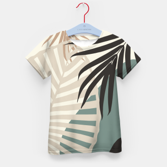 Thumbnail image of Minimal Tropical Palm Leaf Finesse #2 #tropical #decor #art  T-Shirt für kinder, Live Heroes