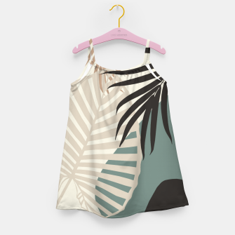 Thumbnail image of Minimal Tropical Palm Leaf Finesse #2 #tropical #decor #art  Mädchenkleid, Live Heroes