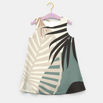 Thumbnail image of Minimal Tropical Palm Leaf Finesse #2 #tropical #decor #art  Mädchen-Sommerkleid, Live Heroes