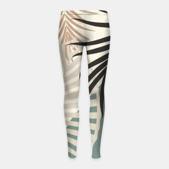 Thumbnail image of Minimal Tropical Palm Leaf Finesse #2 #tropical #decor #art  Kinder-Leggins, Live Heroes