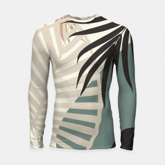 Thumbnail image of Minimal Tropical Palm Leaf Finesse #2 #tropical #decor #art  Longsleeve rashguard, Live Heroes