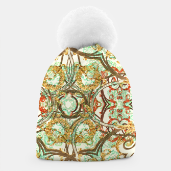 Thumbnail image of Multicolored Modern Collage Print  Beanie, Live Heroes