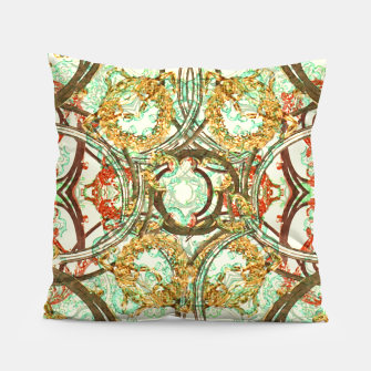 Thumbnail image of Multicolored Modern Collage Print  Pillow, Live Heroes