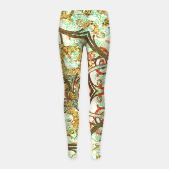 Thumbnail image of Multicolored Modern Collage Print  Girl's leggings, Live Heroes