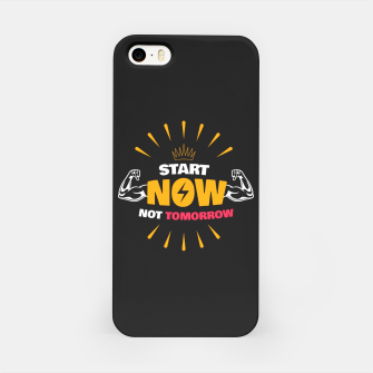 Thumbnail image of START NOW NOT TOMORROW  iPhone Case, Live Heroes