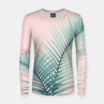 Thumbnail image of Intertwined - Palm Leaves in Love #2 #tropical #decor #art Frauen sweatshirt, Live Heroes
