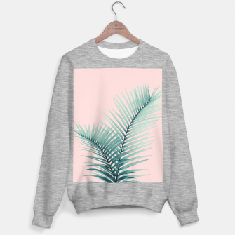 Thumbnail image of Intertwined - Palm Leaves in Love #2 #tropical #decor #art Sweatshirt regulär, Live Heroes