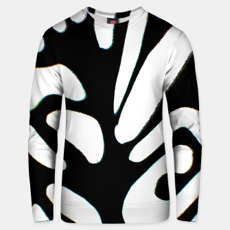 Thumbnail image of black and white abstract geometric digital art Unisex sweater, Live Heroes