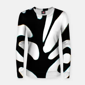 Thumbnail image of black and white abstract geometric digital art Women sweater, Live Heroes