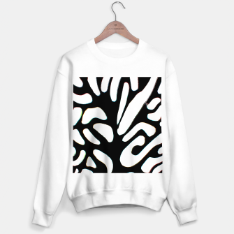 Thumbnail image of black and white abstract geometric digital art Sweater regular, Live Heroes