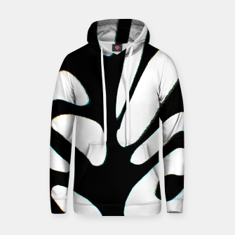 Thumbnail image of black and white abstract geometric digital art Hoodie, Live Heroes