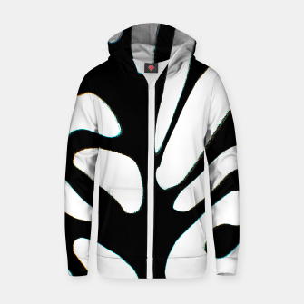 Thumbnail image of black and white abstract geometric digital art Zip up hoodie, Live Heroes