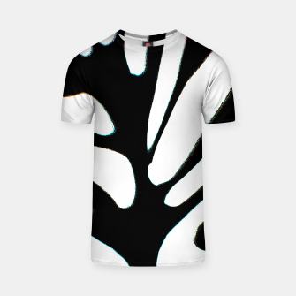 Thumbnail image of black and white abstract geometric digital art T-shirt, Live Heroes