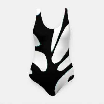 Thumbnail image of black and white abstract geometric digital art Swimsuit, Live Heroes