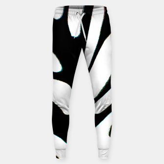 Thumbnail image of black and white abstract geometric digital art Sweatpants, Live Heroes