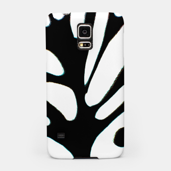 Miniatur black and white abstract geometric digital art Samsung Case, Live Heroes