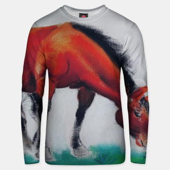 Thumbnail image of horse by dry pastel Bluza unisex, Live Heroes