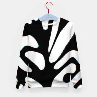 Thumbnail image of black and white abstract geometric digital art Kid's sweater, Live Heroes