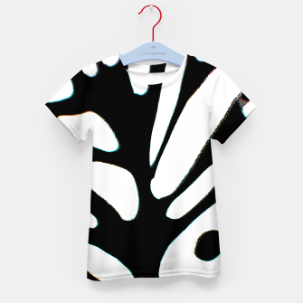 Thumbnail image of black and white abstract geometric digital art Kid's t-shirt, Live Heroes