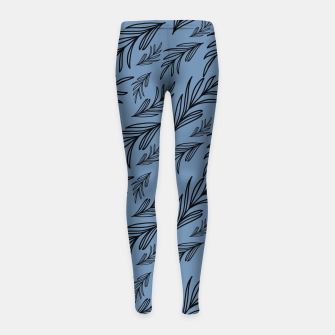 Thumbnail image of Feeling of lightness III - Steel Blue Girl's leggings, Live Heroes