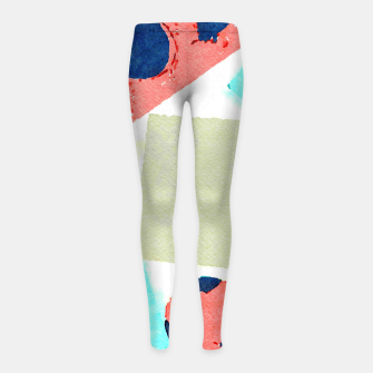 Thumbnail image of Composition Girl's leggings, Live Heroes
