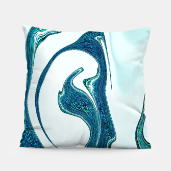 Miniatur waves abstract digital art Pillow, Live Heroes