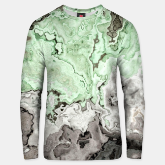 Thumbnail image of grey and green marble abstract digital painting Unisex sweater, Live Heroes