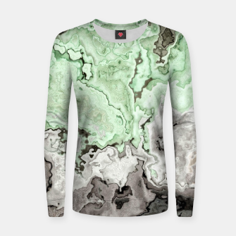 Thumbnail image of grey and green marble abstract digital painting Women sweater, Live Heroes