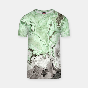 Thumbnail image of grey and green marble abstract digital painting T-shirt, Live Heroes