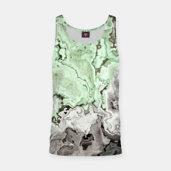 Thumbnail image of grey and green marble abstract digital painting Tank Top, Live Heroes