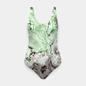 Thumbnail image of grey and green marble abstract digital painting Swimsuit, Live Heroes