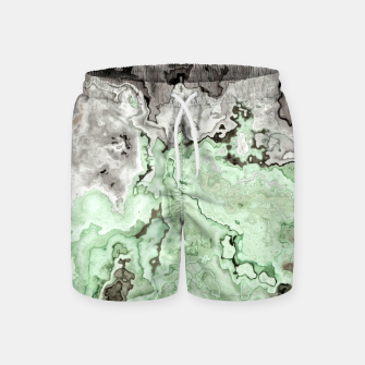Thumbnail image of grey and green marble abstract digital painting Swim Shorts, Live Heroes